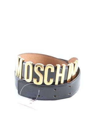 Moschino Lederen riem zwart-goud casual uitstraling