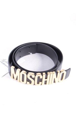 Moschino Ledergürtel schwarz-goldfarben extravaganter Stil
