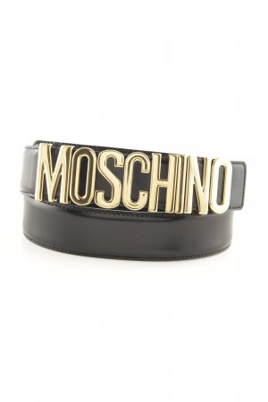 Moschino Leather Belt black-gold-colored street-fashion look
