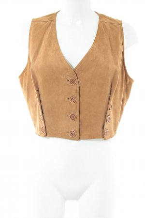 Moschino Leather Vest light orange casual look