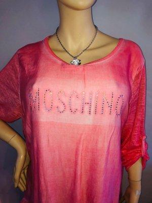 Moschino Leichte Bluse Tunika in gr L Farbe Coral