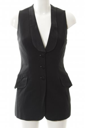 Moschino Long-Blazer schwarz Business-Look