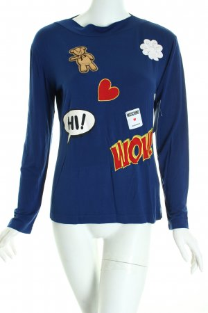 Moschino Longsleeve Comicmuster Casual-Look