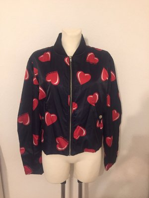 Love Moschino Blouson nero-rosso scuro