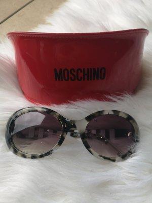 Love Moschino Ovale zonnebril lichtgrijs-groen-grijs