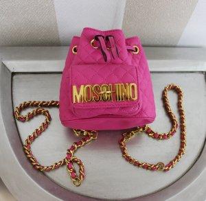 MOSCHINO Mini Rucksack Backpack Designer Tasche Pink Gold
