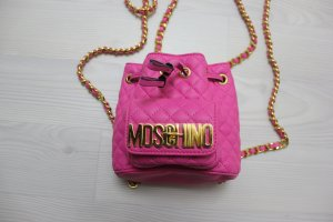 Moschino Sac à dos doré-rose