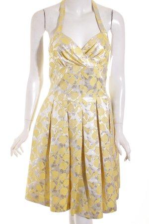 Moschino Neckholderkleid gelb-silberfarben abstrakter Druck extravaganter Stil