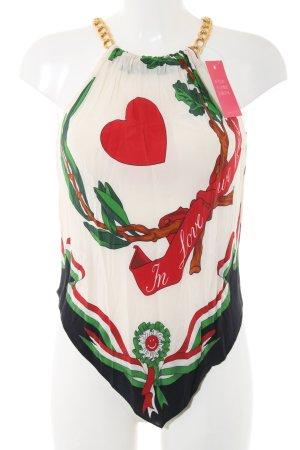 Moschino Top estilo halter estampado floral look casual