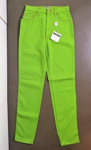 * MOSCHINO * NEU ! JEANS HOSE hell grün neon Waffelmuster Gr 28 / M