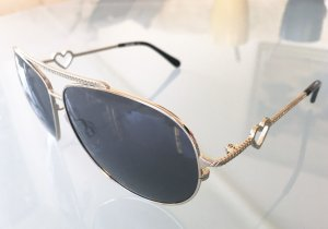 Moschino Aviator Glasses silver-colored metal