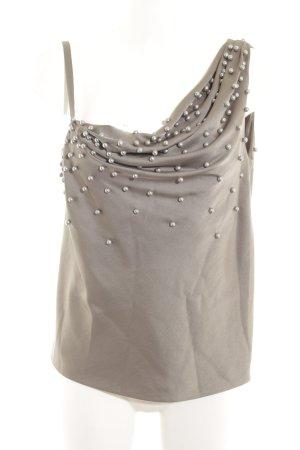Moschino One-Shoulder-Top graubraun Elegant