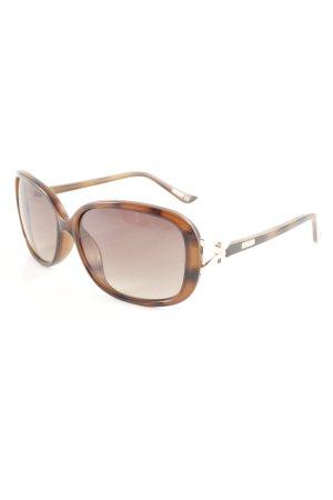 Moschino ovale Sonnenbrille braun-schwarz Farbtupfermuster Elegant