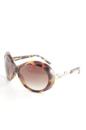 Moschino ovale Sonnenbrille Farbtupfermuster Elegant