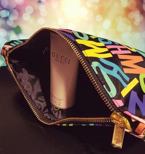 Moschino Parfums Kosmetiktasche, Clutch, gold Reißverschluss, bunt, OVP, NEU