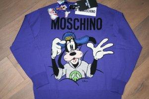 Moschino Pullover mit Goofy Motiv / Gr. M / Merino Wolle / TOP