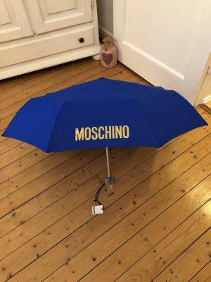 Moschino Regenschirm neu blau mit Gold 89€
