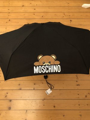 Moschino Regenschirm neu schwarz