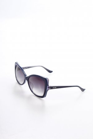 Moschino Retro Brille dunkelblau Retro-Look