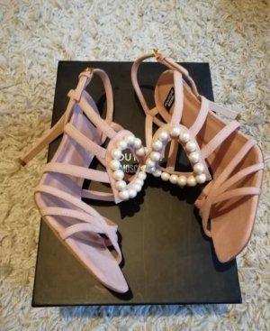 Moschino Riemchen Perlen Sandalen 37
