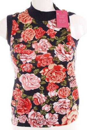 Moschino Top con colletto arrotolato motivo floreale stile casual