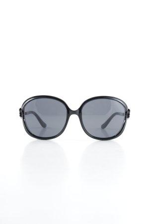 Moschino runde Sonnenbrille schwarz Casual-Look