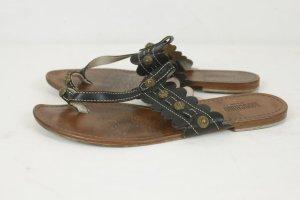 MOSCHINO Sandalen schwarz Gr. 40 Leder