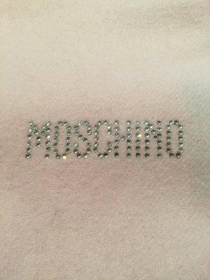 Moschino Schal Rose und Logo in Strass #blogger