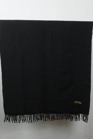 Moschino Wollen sjaal zwart Gemengd weefsel
