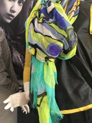 Moschino Seiden Tuch Schal nie getragen Etikette 100 % Seide über 300 Euro