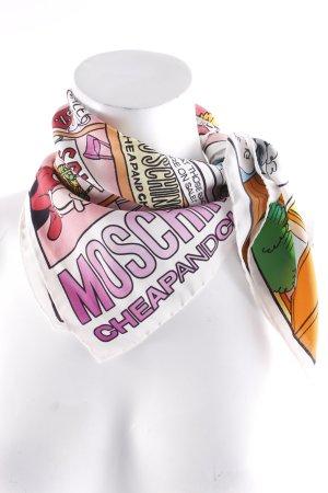 Moschino Zijden doek colour blocking straat-mode uitstraling