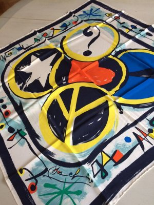 Moschino Panno di seta multicolore Seta