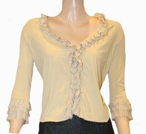 MOSCHINO Shirt leicht Rüschen gelb Gr.38