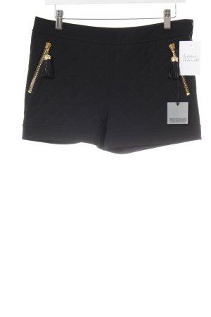 Moschino Shorts nero motivo trapuntato stile festa