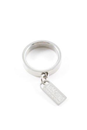 Moschino Zilveren ring zilver straat-mode uitstraling