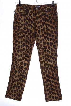 Moschino Slim Jeans allover print casual look