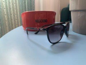Moschino Hoekige zonnebril zwart-rood