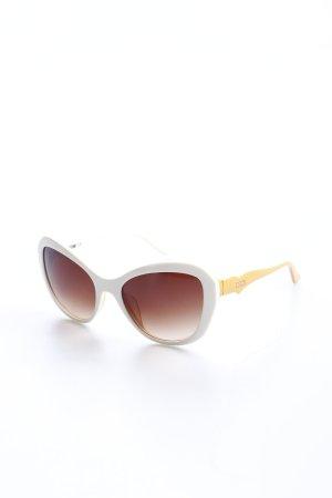 Moschino Sonnenbrille dunkelgelb-wollweiß 70ies-Stil