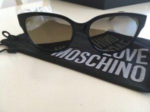 Moschino Sonnenbrille Neu Cateye schwarz mit Logo