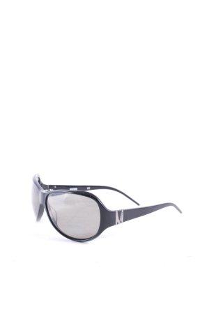 Moschino Sonnenbrille schwarz klassischer Stil