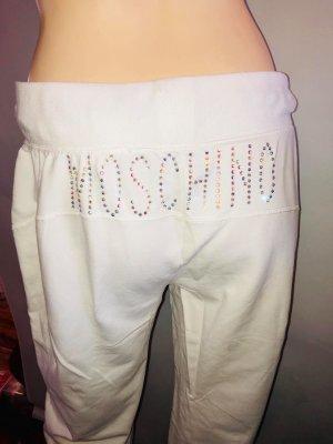 Moschino Sportbroek wit-zilver
