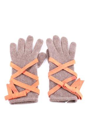 Moschino Guantes de punto marrón-naranja claro look casual