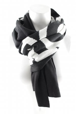 Moschino Knitted Scarf black-white casual look