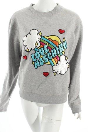Moschino Sweatshirt hellgrau Comic-Look