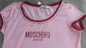 MOSCHINO T-Shirt Damen Oberteil Shirt Gr. D40 rosa Pailletten