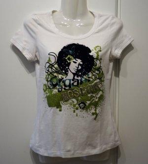 Moschino T-Shirt Retro 70's Disco Print Gr. 36/38 Blogger Designer Street Wear