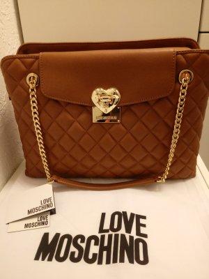 Love Moschino Bolso color oro-coñac