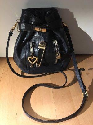 Moschino Tasche Beutel bag Schultertasche schwarz echt Leder