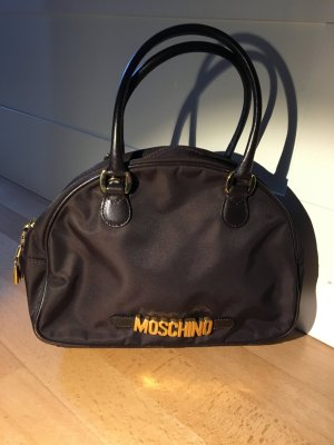 Moschino Tasche dunkelbraun Nylon/Leder
