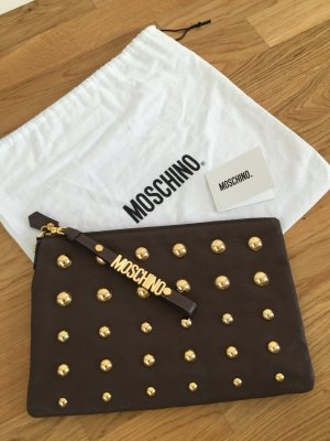 Moschino Borsa clutch marrone-grigio